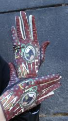 Gants Brokante marron à pois
